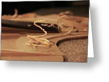 Wood Curl Greeting Card