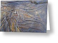 Wood Face  Greeting Card