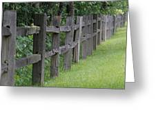 Wood Fence Greeting Card