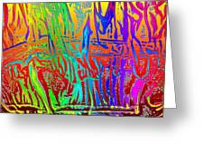 Wood Fire Rainbow Greeting Card