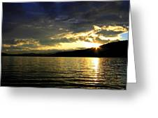 Wood Lake Sunburst Greeting Card