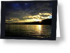 Wood Lake Sunburst Greeting Card