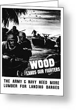 Wood Lands Our Fighters Greeting Card