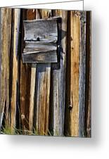 Wood On Wood Greeting Card