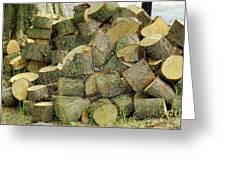 Wood Pile Greeting Card