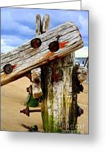 Wood Structure Greeting Card
