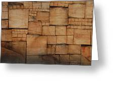 Woodblocks Greeting Card