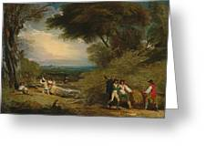 Woodcutters In Windsor Park Greeting Card