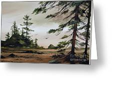 Wooded Shore Greeting Card
