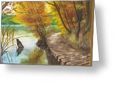 Woodem Bridge Greeting Card