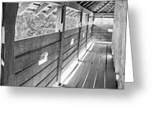 Wooden Balcony Greeting Card by Gabriela Insuratelu