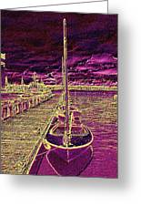Wooden Boat Moorage Greeting Card