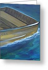 Wooden Boat -rear Greeting Card