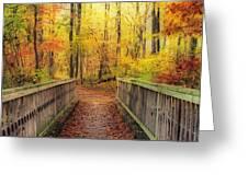 Wooden Bridge   Hdr Greeting Card