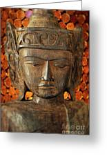 Wooden Buddha Greeting Card