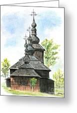 Wooden Church Greeting Card
