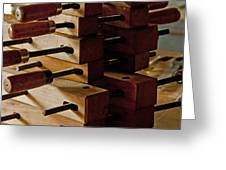 Wooden Clamps Greeting Card by Wilma  Birdwell
