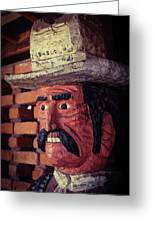 Wooden Cowboy Greeting Card