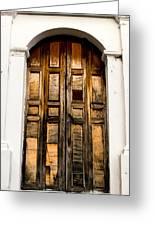 Wooden Door 1 Greeting Card