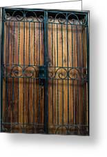 Wooden Door 2 Greeting Card