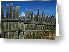 Wooden Fence, Grand Tetons Greeting Card