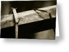 Wooden Fence Part 1 Greeting Card