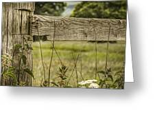 Wooden Fence Post. Greeting Card