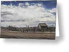 Wooden Fenced Corral Out West Greeting Card
