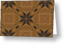 Wooden Maltese Cross Fresco Greeting Card