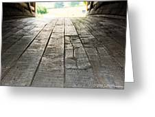 Wooden Road Greeting Card