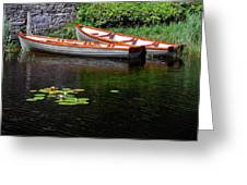 Wooden Rowboats Greeting Card