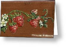 Wooden Strawberries Greeting Card
