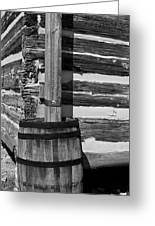 Wooden Water Barrel Greeting Card