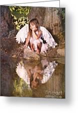 Woodland Fairy Greeting Card by Cindy Singleton