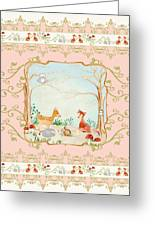 Woodland Fairy Tale - Blush Pink Forest Gathering Of Woodland Animals Greeting Card