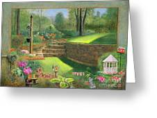 Woodland Garden In A Small Town Greeting Card