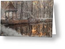 Woodland Gazebo Greeting Card