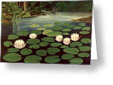 Woodland Hidden Pond Greeting Card by Fred Jinkins