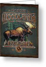 Woodlands Moose Greeting Card