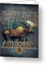 Woodlands Moose Sign Greeting Card