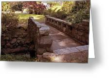 Woodlawn Footbridge Greeting Card