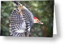 Woodpecker Wings Greeting Card