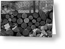 Woodpile Greeting Card
