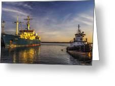 Woods Hole Ship Yard Greeting Card