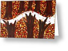 Woods In Autumn Greeting Card