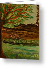 Woods Greeting Card by Marie Bulger