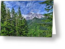 Woods Surrounding Mt. Rainier Greeting Card