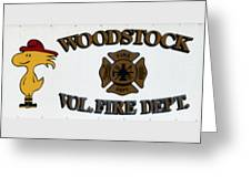 Woodstock Fire Dept Greeting Card