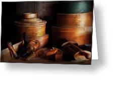 Woodworker - Shaker Box Shop  Greeting Card