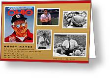 Woody Hayes Legen Five Panel Greeting Card
